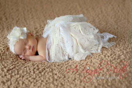 newborn baby girl in Baltimore