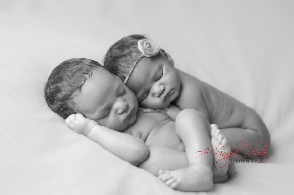 Newborn twins in Maryland