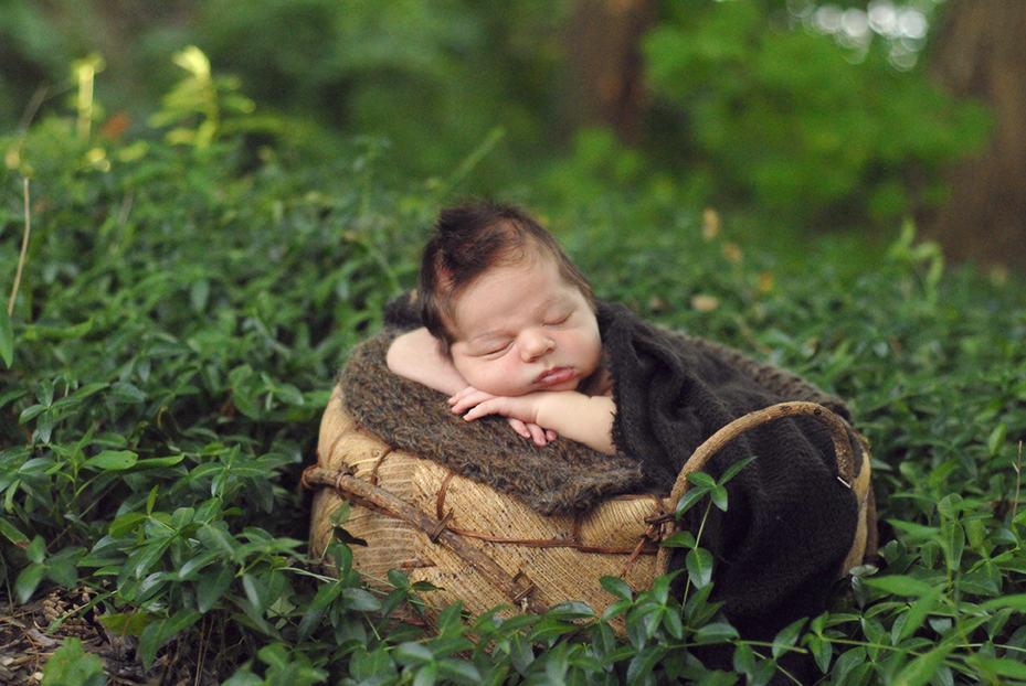baby boy newborn outside