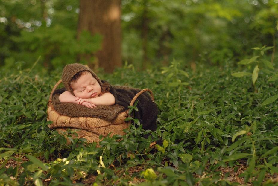 baby boy outside